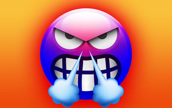 Angry Social Media Emoji